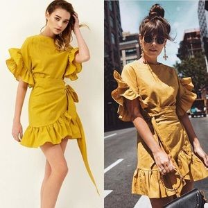 Storets yellow wrap dress